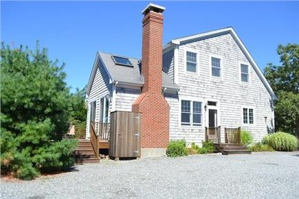 Edgartown/West Tisbury Line Martha's Vineyard vacation rental - Side view and outdoor shower