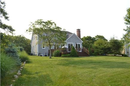 Edgartown/West Tisbury Line Martha's Vineyard vacation rental - Spacious Back Yard and Private Deck
