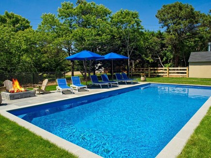 Katama - Edgartown, Edgartown Martha's Vineyard vacation rental - 18x40 Heated Salt Water Pool with 6 lounge chairs & lg umbrellas.