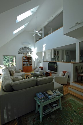 Katama-Edgartown, South Beach Martha's Vineyard vacation rental - Our spacious, sun-filled cathedral ceiling great room.