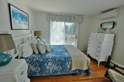 Katama - Edgartown, South Beach Martha's Vineyard vacation rental - Spacious and bright queen sized bedroom, sliding door to balcony.