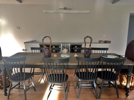 Katama - Edgartown, Edgartown/Katama area located  Martha's Vineyard vacation rental - View when you walk through foyer. Dining table for 8