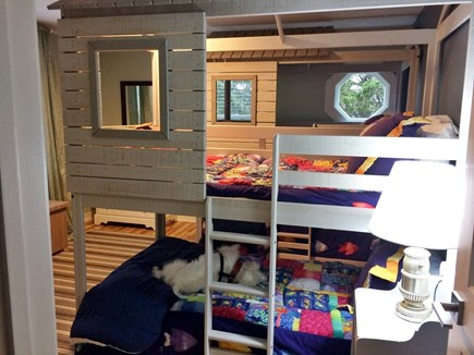 Katama - Edgartown, Edgartown/Katama area located  Martha's Vineyard vacation rental - Two sets of bunk beds with magical forts on the top bunk
