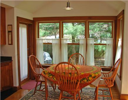 Oak Bluffs Martha's Vineyard vacation rental - Beautiful and bright dining area with door to deck and grill