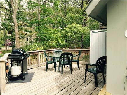 Katama - Edgartown, Martha's Vineyard, Edgartown Martha's Vineyard vacation rental - Left Deck, Outdoor Shower, flower and herb planters