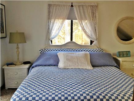 Katama - Edgartown, Martha's Vineyard, Edgartown Martha's Vineyard vacation rental - King Bedroom, Flat screen TV, xtra trundle bed, desk area