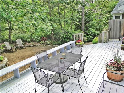 Edgartown Martha's Vineyard vacation rental - Large deck with new outdoor shower