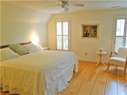 Edgartown Martha's Vineyard vacation rental - King sized bedroom upstairs with own bathroom