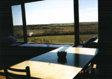 Chilmark Martha's Vineyard vacation rental - Main room view from picture window, towards ocean