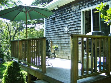 OAK BLUFFS near  SAILING CAMP Martha's Vineyard vacation rental - Deck with grill and table