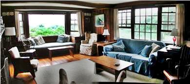Chilmark Martha's Vineyard vacation rental - Living room Panorama