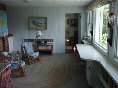 Chilmark Martha's Vineyard vacation rental - Breezeway Sitting Area