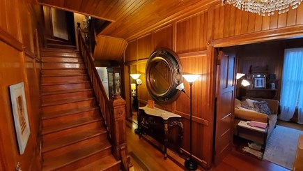 Oak Bluffs Martha's Vineyard vacation rental - Front door entrance and central stairway