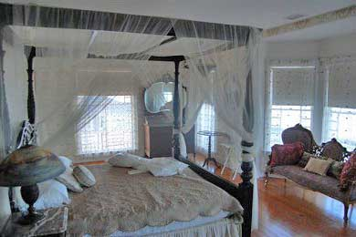 Oak Bluffs Martha's Vineyard vacation rental - Spacious Master BR, private veranda, King canopy bed