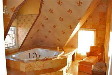 Oak Bluffs Martha's Vineyard vacation rental - Massive floor-ceiling pink marble bathroom,  jacuzzi