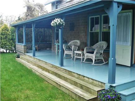 Oak Bluffs, East Chop Martha's Vineyard vacation rental - Wrap Around Covered Porch & Private Yard in Back, Rockers & Swing