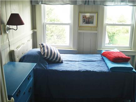 Oak Bluffs, East Chop Martha's Vineyard vacation rental - Twin Waterview Bedroom, Bureau, Roll-Top Desk, Clothes Hanging.