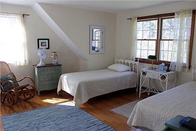 Katama - Edgartown Martha's Vineyard vacation rental - Loft area above living room- two twins