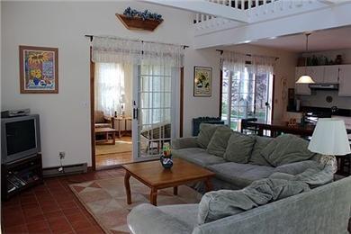 Katama - Edgartown Martha's Vineyard vacation rental - Living room, open floor plan, with skylights