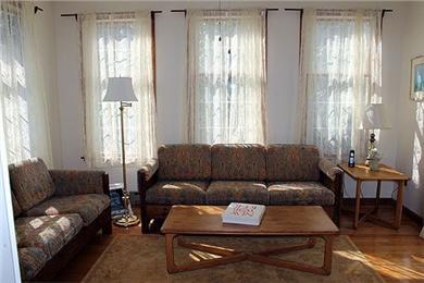 Katama - Edgartown Martha's Vineyard vacation rental - Sunroom off living room- Sliding door access to deck