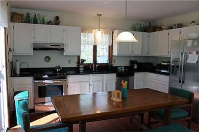 Katama - Edgartown Martha's Vineyard vacation rental - Contemporary kitchen with kitchen table seating  8