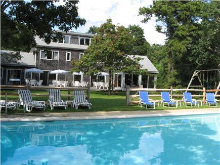 Katama - Edgartown Martha's Vineyard vacation rental - Heated pool and open backyard- perfect for games and sunbathing