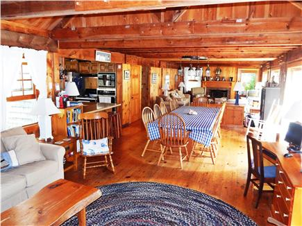 Katama - Edgartown Martha's Vineyard vacation rental - Spacious den, dining room, living room in open plan setting