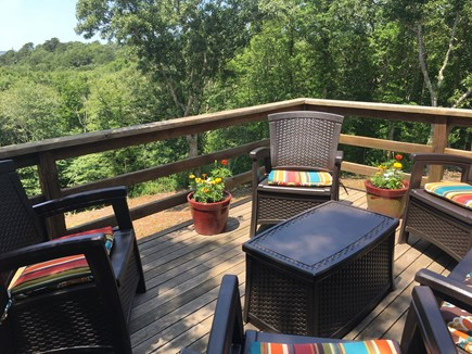 West Tisbury, MA Martha's Vineyard vacation rental - Our deck seating provides great views!
