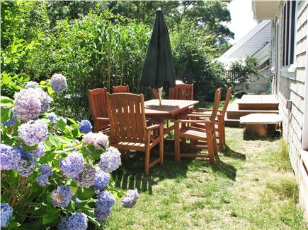 Vineyard Haven Martha's Vineyard vacation rental - Green patio dining