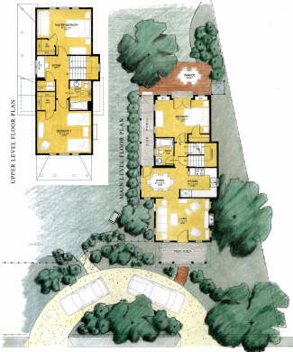 Edgartown Martha's Vineyard vacation rental - Site plan, lower & upper floor plans