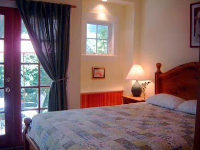 Edgartown Martha's Vineyard vacation rental - The lower Bedroom w/french doors out to Terrace