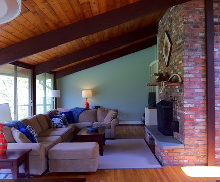 Chilmark Martha's Vineyard vacation rental - Airy living room with many windows and huuuge sectional