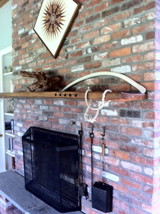 Chilmark Martha's Vineyard vacation rental - Mantel found on Lucy Vincent beach; whalebone from Long Point