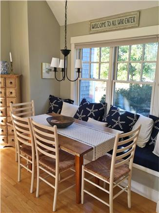Edgartown Martha's Vineyard vacation rental - Kitchen Dinning Breakfast Nook seats 6