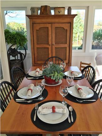 Edgartown Martha's Vineyard vacation rental - Dining In Sunroom seats 6/8   Everyones favorite room