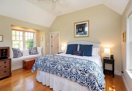 Edgartown Martha's Vineyard vacation rental - Master BR with private bathroom opening to hot tub deck