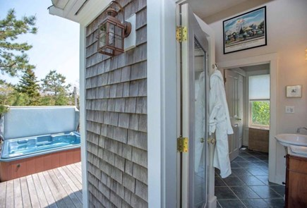 Edgartown Martha's Vineyard vacation rental - Secluded 6 person private hot tub  off Master Bedroom Suite