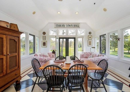 Edgartown Martha's Vineyard vacation rental - Sun room/dining is the favorite gathering spot