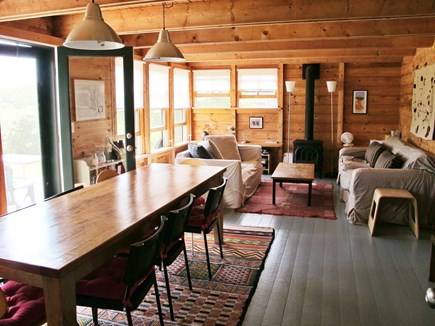 Edgartown Martha's Vineyard vacation rental - Main House:  Dining | Living Area