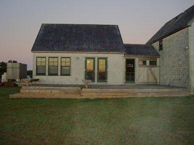 Edgartown Martha's Vineyard vacation rental - Rear View: Deck, Breezeway, Outdoor Shower