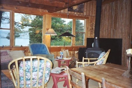 Vineyard Haven Martha's Vineyard vacation rental - View out picture windows in living area