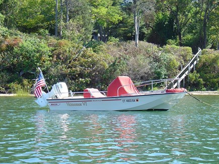 Vineyard Haven Martha's Vineyard vacation rental - Small boat mooring with stairs to our private beach behind