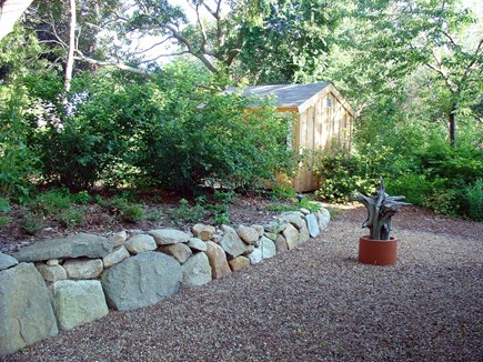 Vineyard Haven Martha's Vineyard vacation rental - Back yard providing privacy from road