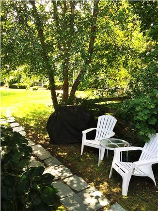 Vineyard Haven Martha's Vineyard vacation rental - Back walkway lined with lovely perrenial border