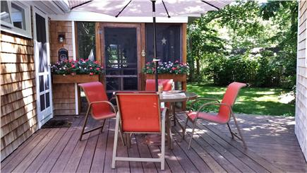 Chilmark Martha's Vineyard vacation rental - Deck for dining, relaxing or just a cup of coffee