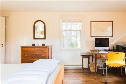 West Tisbury Martha's Vineyard vacation rental - Downstairs twin beds and home office