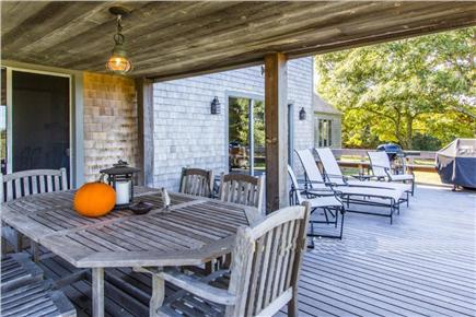 West Tisbury Martha's Vineyard vacation rental - Lower and upper decks perfect for sunbathing and entertaining