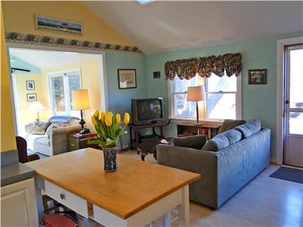 Edgartown Martha's Vineyard vacation rental - Vaulted living room with skylight