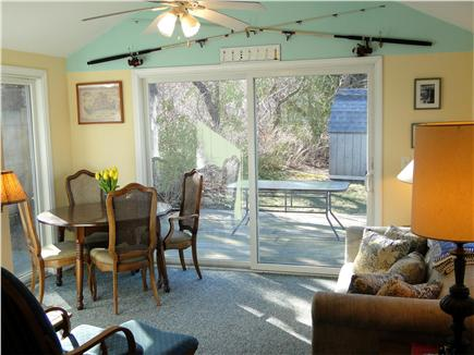 Edgartown Martha's Vineyard vacation rental - Sunny dining room with sliders to deck