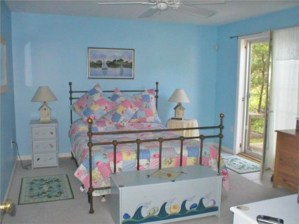 Edgartown Martha's Vineyard vacation rental - Master Bedroom on First Floor - French Door leads to Deck